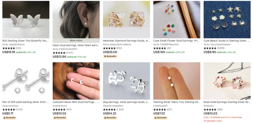 Best Etsy Tags for earrings